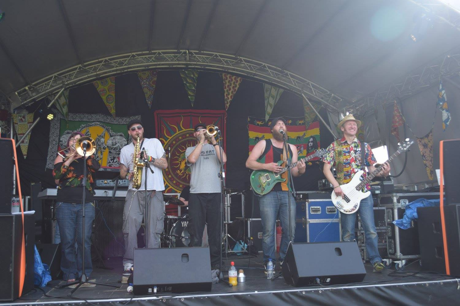 Photograph of easydread rockin' out at One Love Festival.